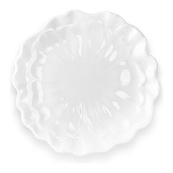 """Peony 8.5"""" Plate - White Floral Salad Plate"""