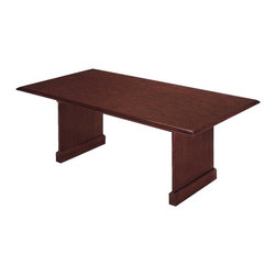 DMi Furniture - DMi Governors Rectangular 10' Conference Table with Slab Base in Mahogany - DMi Furniture - Conference Tables - 735095 - Traditional integrity is inherent in the attention to detail in the Governors Collection. With an expansive line offering in an Engraved Executive Mahogany finish Governors provides solutions to any office environment.