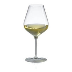 Ravenscroft Amplifier Pro Unoaked White Wine Glass - Set of 4 - Intended to magnify intensify and focus the bouquet of the wine the Ravenscroft Amplifier Pro Unoaked White Wine Glass comes with a narrow mouth at the top of tapered sides. The wide bottom of the cup creates ample surface area for the wine. This wine glass is ideal for these grape varietals and wines: Unoaked Whites such as Albarino Arneis Bordeaux (white) Burgundy (white) Chardonnay Chenin Blanc Graves Hermitage (white) Pinot Blanc Pinot Grigio Pinot Blanc Rhone (white) Semillon Soave and Viognier.Ravenscroft Crystal is the embodiment of old-world European craftsmanship blended with modern understanding of how a wine glass enhances the tasting experience. Each style of glass that Ravenscroft offers is the result of many years of glass-making trial and error. Each type of glass is individually designed and crafted to enhance the bouquet and taste of the wine or spirit for which it was made. The combination of being perfectly formed and light to the touch allows the bouquet to deliver the essence of the wine and spirits to the proper zones of the palate. To reduce the transfer of hazardous toxins into the beverage all Ravenscroft crystal products are lead-free.