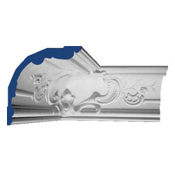 "Inviting Home - Florence Molding Corner (medium) - inside corners 7""H x 6-7/8""P x 9-3/4""F x 6'6""L for use in combination with Medium Florence cove molding use to make 2 inside corners when cut; crown molding specifications: - outstanding quality crown molding made from high density polyurethane environmentally friendly material is hypoallergenic and fully recyclable no CFC no PVC no formaldehyde; - front surface of this molding has extra durable and smooth surface; - crown molding is pre-primed with water-based white paint; - lightweight durable and easy to install using common woodworking tools; - metal dies were used for consistent quality and perfect part to part match for hassle free installation; - this crown molding has sharp deep and highly defined design; - matching flexible molding available; - crown molding can be finished with any quality paints; - there is a four piece minimum requirement for this molding purchase; Polyurethane is a high density material--it's extremely lightweight and easy to install (and comes primed and ready to paint). It is a green material meaning it's CFC and formaldehyde free. It is also moisture resistant--so it won't shrink flex or mold. What's also great about Polyurethane is that it's completely customizable and can be treated as wood (you can saw it nail it screw it and sand it). In addition our polyurethane material come primed and ready to paint."