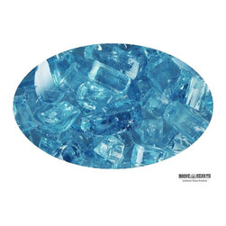 "Boone Hearth - 10 LB Bag of 1/4"" Blue Lagoon Fire Glass - 10 LB Bag of 1/4"" Blue Lagoon Fire Glass"