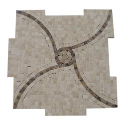 """GlassTileStore - Windmill Crema Marfil and Emperidor Marble Tile - Windmill Crema Marfil and Emperidor Marble Tile             This hand-made micro marble mosaic was handlely single cut by hand and will provide endless design possibilities from contemporary to classic. It creates a great focal point to suit a variety of settings.          Color: Crema Marfil and Dark Emperidor   Material: Marble   Finish: Polished   Sold by the Sheet- each sheet measures 12""""x12"""" (1 sq.ft.)   Thickness: 10mm   Please note each lot will vary from the next.               - Glass Tile -"""