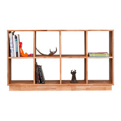 Mash Studios - LAX Series 4x2 Bookcase - Simple and minimal, this English walnut bookcase is so incredible. It's definitely one of my all-time favorites!