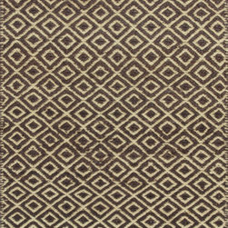 Kas - Dots Diamonds Mocha Izteca Modern 8' x 10' Kas Rug  by RugLots - KAS carries over 40 different collections of fine handmade and machine-made rugs, covering a range of low to high-end price points. You will find looks to suit all your lifestyles varying from traditional or elegant designs to bold contemporary patterns to casual and themed styles. KAS is well known for being in the forefront of innovation and design and continues to bring the most unique constructions and latest design and color trends to market.