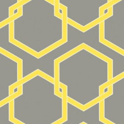 Tempaper - Citron HO047 Honeycomb Self-Adhesive Wallpaper - Citron HO047 Honeycomb Self-Adhesive Wallpaper is self-adhesive and has 18 inches of pattern repeat. This self-adhesive wallpaper is revolutionary in the home decor industry. It can be easily removed, repositioned or readjusted to match your style. It is the perfect wallpaper for renters, or people who just like to change their home decor often! Liven up any room as frequently as you like with self-adhesive removable wallpaper. Collection name: Tempaper Size of each double roll is 20.5 inches x 33 feet. Each double roll covers about 56.37 square feet / 5.24 square meters. Wallpapers are priced per single roll, but packaged and sold in double rolls only. Please order the number of single rolls that you will need, but you must order in multiples of two (even numbers) only.