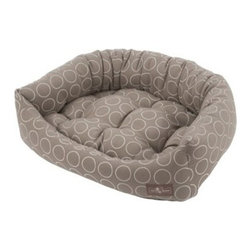 Jax & Bones - Jax & Bones Cotton Blends Napper Bed Halo Peanut Butter X-Large - The Jax and Bones cotton blends napper bed gives your dog a perfect spot to lean, cuddle, curl, or sleep in. this bed is available in four sizes and consists of two removable inserts so that you can easily keep it clean. If you want your dog to have the coziest and the most comfortable of beds, then Jax and Bones cotton blends napper bed is for you.