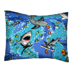 SheetWorld - SheetWorld Twin Pillow Case - Percale Pillow Case - Sea Life - Made in USA - Twin pillow case. Made of an all cotton flannel fabric. Side Opening. Features the one and only sea life!
