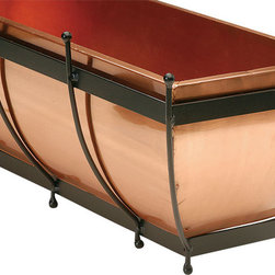 """H Potter - H Potter Classic Copper Window Box 30"""" - There's nothing like the gleam of copper and it's even better when it starts to age. This attractive window box allows you to enjoy this natural process while enjoying your favorite flowers."""
