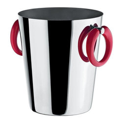 "Alessi - Alessi ""Moon Bar"" Wine Cooler - Bottle service just got better. Your vino will chill in style in this stylish bucket made of stainless steel. Thermoplastic resin handles remain at a neutral temperature so your hands won't freeze."