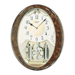 RHYTHM - Snowflake Legend Musical Motion clock - The elegance of the Snowflake Legend makes it a great gift for a wedding or an anniversary.
