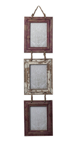 Sterling - Sterling 128-1026 Set Of Picture Frames With Natural Rope Hanger - Sterling 128-1026 Set Of Picture Frames With Natural Rope Hanger