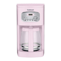 Cuisinart - Cuisinart 12-Cup Programmable Coffeemaker. Pink - 12-cup carafe with ergonomic handle, dripless spout and knuckle guard