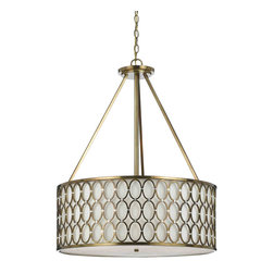 Candice Olson by AF Lighting - Candice Olson 8218-5H Cosmo Satin Brass Pendant - Candice Olson 8218-5H Cosmo Satin Brass Pendant