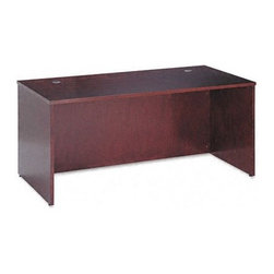 Basyx - Veneer Executive Desk Shell with Beaded Edge Detail - Your desk.This is the place where you want to feel organized, stay focused, make good decisions and watch your business grow. Every desk you purchase has to become a part of your success. Basyx understands this balance and embodies it within each desk theycreate. Beaded edge detailing provides a classy, clean look for any office and a wide range of pieces enable you to coordinate your entire business space! Outfit your office with the Basyx -Simple, Clear, Easy. Features: -Desk shell.-With beaded edge detail.-Veneer tops are hand rubbed to a lustrous sheen.-Durable 1.5'' thick tops.-Complete with two standard black grommets in top.-Attractive beaded edge detail.-Full height modesty panels.-Adjustable floor leveling glides provide 0.5'' of adjustment.-Overhang: 4.5''.-Overhang: 4.5''.-Overhang: 10''.-Overhang: 16.5''.-Hardwood veneer multi-step finishing process.-Distressed: Yes.-Collection: Veneer.Dimensions: -Overall dimensions: 29'' H x 60'' W x 30'' D.-Approximate weight: 151 lbs.-Overall dimensions: 29'' H x 66'' W x 30'' D.-Approximate weight: 157 lbs.-Overall dimensions: 29'' H x 72'' W x 36'' D.-Approximate weight: 163 lbs.-Overall dimensions: 29'' H x 72'' W x 42'' D.-Approximate weight: 166 lbs.-Overall Product Weight: 151 - 166 lbs.Warranty: -Performance backed by a 5 year warranty.