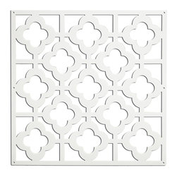 "WallPops - Honeycomb Panels Wall Decals - With a chic, Moroccan flair, and a clean white appeal, these room panels bring style and function. Perfect for walls, windows, or hung from the ceiling, these panels are brilliant for defining a space, creating a unique window treatment, or as dimensional wall decor! Honeycomb White Room Panels are 14.75"" x 14.75"" and come 4 pieces per pack Imported."