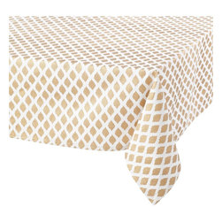 John Robshaw Shield Tablecloth - Marrying contemporary and global chic, this textured tablecloth is truly stunning. It's neutral, versatile and perfect for entertaining in style.