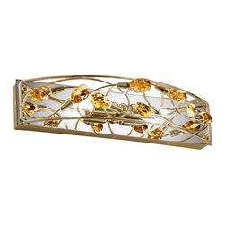 """Kolarz - Top quality from Vienna - Kolarz - Top quality from Vienna Arabesque 62 wall lamp small - Arabesque 62 wall lamp small is part of a collection of High End light fixtures made in Vienna, Austria by Kolarz. This light series is designed by artistique minds using the finest materials, metal and crystal, beeing a unique creation and fashioned to reflect individual personality and lifestyle. Arabesque consists of a rectangular mirror mounted on the wall that sustains a structure with beautiful decoration of twists and Swarovski cystals. The fixture is handmade in EU and is available in chrome plated finishes or 24k gold plated finishes. Combining its distinctive design with the highest quality of its materials the wall light is a luxury path for both commercial and residential interiors. Illumination is provided by G9, 25W Halogen bulb (not included).      Product Details: Arabesque 62 wall lamp small is part of a collection of High End light fixtures made in Vienna, Austria by Kolarz. This light series is designed by artistique minds using the finest materials, metal and crystal, beeing a unique creation and fashioned to reflect individual personality and lifestyle. Arabesque consists of a rectangular mirror  mounted on the wall that sustains a structure with beautiful decoration of twists and  Swarovski cystals.   The fixture is handmade in EU and is available in  chrome plated finishes or 24k gold plated finishes. Combining its distinctive design with the highest quality of its materials the wall light is a luxury path for both commercial and residential interiors. Illumination is provided by G9, 25W Halogen  bulb (not included). Details:                         Manufacturer:            Kolarz                            Designer:            Kolarz                            Made in:            Austria                            Dimensions:                        Length: 11.8""""(30cm) X Height: 2.6""""(6.5cm) X Depth: 4.7""""(12cm)                                     """