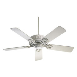 "Quorum International - Quorum International 35525-8 Studio White Empress Energy Star Rated - The Empress Indoor Ceiling FanLifetime Motor WarrantyFive Blades, 52"" Blade Sweep14-Degree Blade Pitch80"" of Lead Wire4"" and 6"" Downrod Included188 x 15 Motor Size3 Speeds-Reversible157/101/49 RPMS on H/M/LRemote Control AdaptableDetachable Switch CupStudio White Comes With Studio White Blades, Etruscan Slate Comes With Reversible Etruscan Slate/Walnut Blades, Ancient Gold Comes With Reversible Ancient Gold/Dark Oak Blades, Toasted Sienna Comes With Reversible Rosewood/Walnut Blades, Cobblestone Comes With Old Pine Blades, Satin Nickel Comes With Reversible Dark Oak/Rosewood Blades, Antique Brass Comes With Reversible Medium Oak/Rosewood Blades, Polished Brass Comes With Reversible Medium Oak/Rosewood Blades"