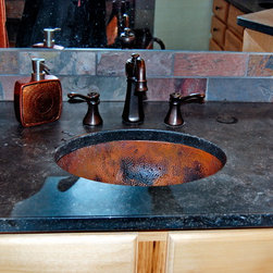 Hammered Copper Undermount Sink - Vanity by Architectural Justice
