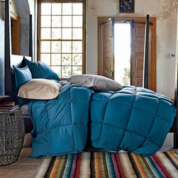La Crosse Primaloft Deluxe Down Alternative Comforter, Deep Water - Stay cozy this winter with a Primaloft comforter. The color is a stunning shade of blue that will make you want to leave it on the bed year-round.