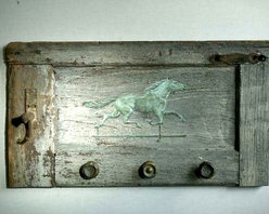 Horse On Very Rustic Shutter - Made by www.ecustomfinishes.com