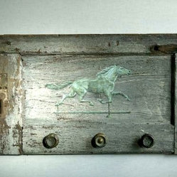 Horse On Very Rustic Shutter