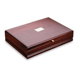 Reed & Barton - Taunton Mahogany Silverware Chest with Brown Lining - Features: -Mahogany or brown taunton. -Liner constructed with tarnish-preventive silver cloth. -Perfect for keeping silver flatware safe. -Color: Mahogany or brown.