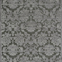 "Loloi - Loloi Halton Too HT-03 5'3"" x 7'7"" Taupe, Grey Rug - For Halton Too, Loloi borrows the power-loomed construction from its original Halton Collection, adding a series of fresh, tonal, chenille/viscose designs in sophisticated fabric-inspired and geometric patterns. The cool, serene palette spotlights on-trend blues, grays and silvers."