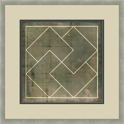 """Mantle Art Company - Vision Studio """"Geometric Blueprint III"""" fine art print - Beautiful modern art custom framed by designers to bring out the best in this piece of art. Made in the USA"""