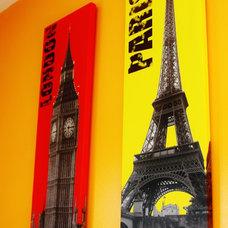Modern Artwork London,Paris canvases