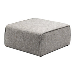 Bryght - Acura Ottoman - The Acura Collection looks perfect in a modern home with its firm yet comfortable foam filling and sophisticated grey upholstery. The Acura can be easily customized to your needs which makes it great for small and large spaces alike.