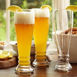 """Schott Zwiesel Hefeweizen, Set of 6 - Savor your favorite beer in our Schott Zwiesel glass, crafted after a traditional Hefeweizen glass and specially designed to resist breakage. 3.5"""" diameter, 10"""" high; 22 fluid-ounce capacity Made of Schott Zwiesel Tritan crystal, an advanced type of pure, hard glass that's rigorously tested for incredible durability and resistance to chipping and breakage. Set of 6. Dishwasher-safe. Monogramming is available at an additional charge. Monogram will be centered on the side of each glass. Made in Germany."""