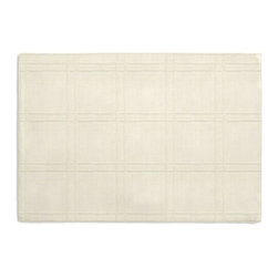 Cream Square Pintuck Custom Placemat Set - Is your table looking sad and lonely? Give it a boost with at set of Simple Placemats. Customizable in hundreds of fabrics, you're sure to find the perfect set for daily dining or that fancy shindig. We love it in this lightweight solid cream cotton with textured pintucks in a grid pattern.