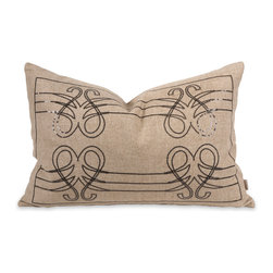 IK Operetta Sequin Pillow w/ Down Insert - Musically inspired, the Operetta pillow features a sequin design over a linen cover that hits the right note with down fill. Designed by Iffat Khan.