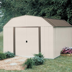 Arrow Vinyl Yorkshire Shed - Take a look at some of our Arrow brand sheds. Arrow is the leading manufacturer of steel sheds in the USA. They offer a very economical solution to all of your storage needs. Arrow has a full line of small garden sheds to large garages.