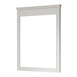 Avanity - Windsor 34in. Mirror - White - The Windsor 34 in. X 38 in. birch framed mirror features a white finish with simple lines. It matches the Windsor vanities for a coordinated look and includes mounting hardware that makes leveling easy. The mirror can be hanged vertically.