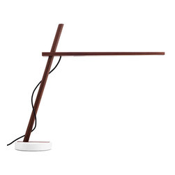 """Pablo Designs - Pablo Designs Clamp FS Lamp, Walnut / Black Cord - Understated beauty and an uncompromising level of utility are key to the Pablo design philosophy,"""" says designer Dana Cannam on his inspiration for Clamp. """"The opportunity to extend that sensitivity to a material as essential as wood was a natural transition."""" Clamp continues Pablo's tradition of offering simple, efficient pieces by combining two basic elements — wood and light — in a seemingly oppositional pairing of the natural and the technological. While warm, North American hardwood composes its frame, the most sustainable, energy efficient LED technology comprises its light source. Designed for versatility and portability, the Clamp, freestanding, floor and mini models all include a minimal number of parts that enable infinite adjustment of its warm, diffused light."""