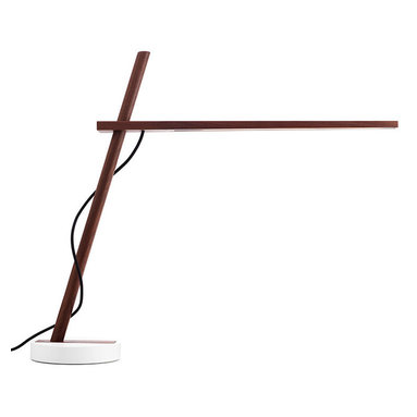 "Pablo Designs - Pablo Designs Clamp FS Lamp, Walnut / Black Cord - Understated beauty and an uncompromising level of utility are key to the Pablo design philosophy,"" says designer Dana Cannam on his inspiration for Clamp. ""The opportunity to extend that sensitivity to a material as essential as wood was a natural transition."" Clamp continues Pablo's tradition of offering simple, efficient pieces by combining two basic elements — wood and light — in a seemingly oppositional pairing of the natural and the technological. While warm, North American hardwood composes its frame, the most sustainable, energy efficient LED technology comprises its light source. Designed for versatility and portability, the Clamp, freestanding, floor and mini models all include a minimal number of parts that enable infinite adjustment of its warm, diffused light."