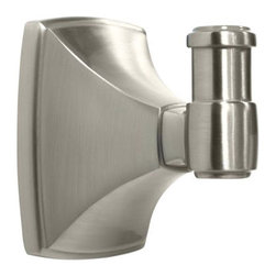 Amerock - Amerock Clarendon Satin Nickel Robe Hook - Update your bathroom with this quality Amerock robe hook,featuring a satin nickel finish. The sophisticated Clarendon robe hook adds to any home's decor.