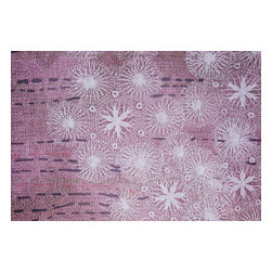 Domestic Construction - Two Legged Lace Floor Mat, Small - The lace pattern placed over the weavings in this floor mat blend feminine and rustic elements beautifully. This is a great way to add style and color to any room, but its low profile and rubber backing make it perfect for an entryway. And when spring cleaning rolls around, simply toss this in the washing machine.