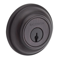 Baldwin Hardware - Baldwin Reserve Traditional Round Deadbolt - Double Cylinder - Solid forged brass construction.
