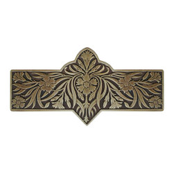 "Inviting Home - Dianthus Pull (antique brass) - Hand-cast Dianthus Pull in antique brass finish; 4-3/8""W x 2-2/8""H; Product Specification: Made in the USA. Fine-art foundry hand-pours and hand finished hardware knobs and pulls using Old World methods. Lifetime guaranteed against flaws in craftsmanship. Exceptional clarity of details and depth of relief. All knobs and pulls are hand cast from solid fine pewter or solid bronze. The term antique refers to special methods of treating metal so there is contrast between relief and recessed areas. Knobs and Pulls are lacquered to protect the finish. Alternate finishes are available. Detailed Description: The Dianthus knobs bring the sophisticated feel the antique homey feel to your cabinets. These pulls will be a great accent to old-world cabinets as well as bringing a polished feel to any antiqued furniture. Sometimes antique finishes end up looking a bit shabby and drabby but installing these knobs will make the cabinets pure chic. It would be a better choice to keep with Dianthus pulls if you would like to use them in conjunction with the pulls. Dianthus knobs are part of English Garden Hardware Collection. Reflecting the meticulous effort that produced these stunning gardens from a bygone era each of the knobs and pulls in this line features individually hand-cast and hand-finished design work. There are soft graceful roses and poppies (McKenna's Rose Knobs and Poppy Knobs) reminiscent of classic beauty and elegance. While other like Dianthus Pulls or Mountain Ash knobs feature crisply detailed styling with colorful background. Each knob's design marries Mother Nature and Craftsmanship into decorative hardware that adds beauty to any room of your home."