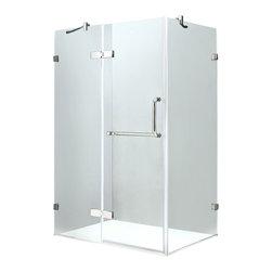 "VIGO Industries - VIGO 32 x 40 Frameless 3/8"" Shower, Without Base - Update your bathroom with this uniquely stylish and totally frameless VIGO rectangular-shaped shower enclosure"