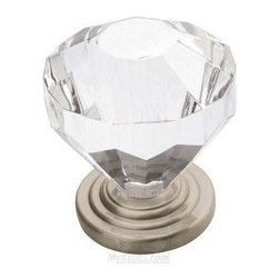 Luminous Clear Acrylic Knob, Satin Nickel - This one is so pretty and feminine.