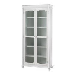 Essex Bookcase With Glass Doors, Aged Cream - A wall of these white bookcases would be a fast way to change an entire room.