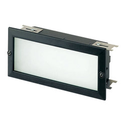 Sea Gull Lighting 9242-12 Ambiance Recessed Brick Black Step Light - Sea Gull Lighting 9242-12 Ambiance Recessed Brick Black Step Light - Wattage: 18 W. - # of Bulbs: 2. - Socket Type: T5. - Installation Required: Yes.