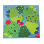 HABA Dragon Fridolin Area Rug - Decorate your childrens room with this cutesy caterpillar carpet. Material: New Zealand Wool with textile backing. Dimensions: 47 x 47 inches.