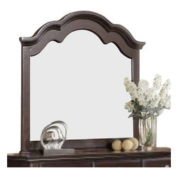 Homelegance - Homelegance Townsford Arched Mirror in Dark Cherry - The best of traditional style has been carefully assembled to create your ultimate bedroom suite. The Townsford collection features unique turnings on the headboard and footboard posts with classic scalloped framing rounding out the bed design. Antiqued pewter hardware accents each case piece as does the bun feet that provide support. The rich dark cherry finish on cherry veneer further compliments this elegantly understated offering.