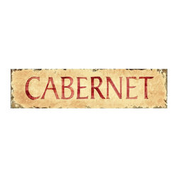 Red Horse Signs - Cabernet small Wall Art - 30W x 7H in. - PP-1019 - Shop for Framed Art and Posters from Hayneedle.com! About Red Horse SignsSpecializing in vintage signs that recall older simpler times Red Horse Signs offers hundreds of possibilities for giving your home a vintage appeal. Each sign is hand painted and then reproductions are printed on to distressed hardwood panels for a rustic antique look. Take you home back to calmer times with Red Horse Signs.