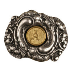 Anne at Home Hardware - Fancy Initial Knob , Antique Bronze - Made in the USA - Anne at Home customized cabinet hardware enables even the most discriminating homeowner to achieve the look of their dreams.  Because Anne at Home cabinet hardware is designed to meet your preferences, it may take up to 3-4 weeks to arrive at your door. But don't let that stop you - having customized Anne at Home cabinet knobs and pulls are well worth the wait!   - Available in many finishes.